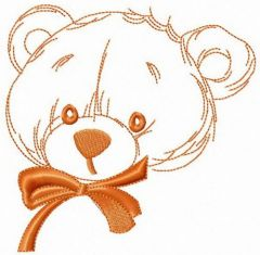 Teddy bear from childhood embroidery design