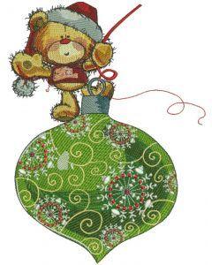 Teddy Bear Christmas coming soon embroidery design