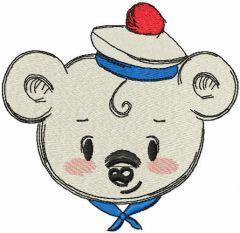 Teddy bear marine style embroidery design