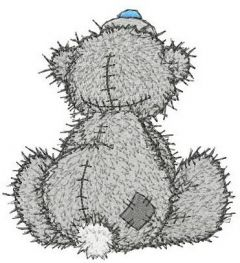 Teddy Bear missing you embroidery design