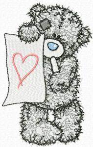 Teddy Bear painter embroidery design