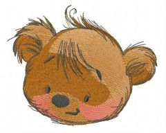Teddy bear playing with butterfly 5 embroidery design