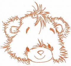 Teddy bear smile embroidery design