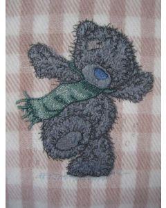 Teddy Bear winter applique embroidery design