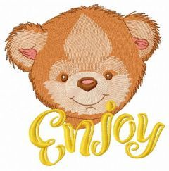 Teddy bear with bath towel 4 embroidery design
