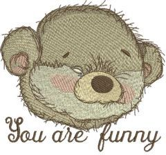 You are funny embroidery design