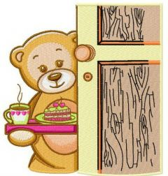 Teddy's tea time 2 embroidery design