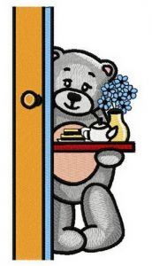 Teddy's teatime 5 embroidery design