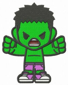 Teen Hulk embroidery design