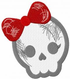 Teen skull embroidery design