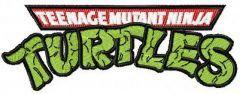 Teenage Mutant Ninja Turtles logo embroidery design