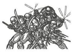 Teenage Mutant Ninja Turtles sketch embroidery design