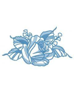 Tender rose 2 embroidery design