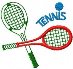 Tennis embroidery design