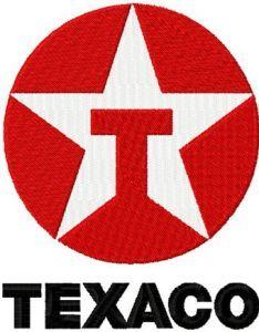 Texaco Logo embroidery design