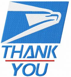 Thank You Essential Workers Delivery USPS Mail embroidery design
