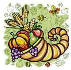 Thanksgiving day 6 embroidery design