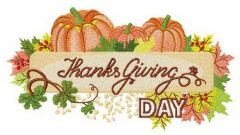 Thanksgiving Day decoration embroidery design