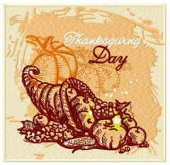Thanksgiving day embroidery design