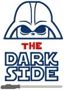 The dark side embroidery design