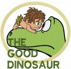 The good dinosaur embroidery design