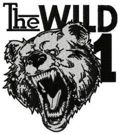 The wild one embroidery design