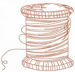 Thread spool embroidery design