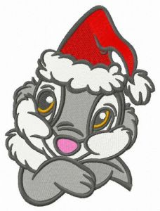 Thumper ready for X-mas embroidery design