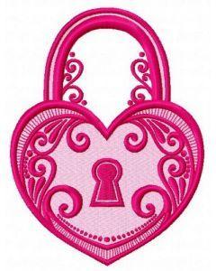 Tiffany keylock 2 embroidery design