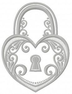 Tiffany keylock 3 embroidery design