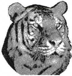 Tiger photo stitch embroidery design