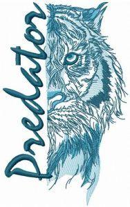 Tiger predator embroidery design