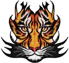 Tribal tiger 2 embroidery design