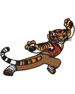 Tigress embroidery design 1