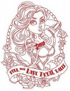 Till the last petal falls 4 embroidery design