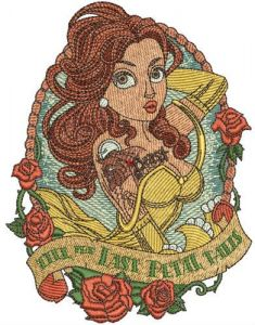 Till the last petal falls embroidery design