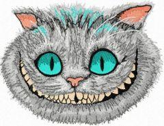 Cheshire Cat 3 - Tim Burton style embroidery design