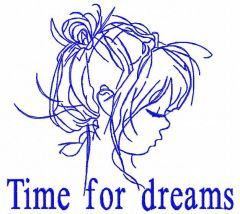 Time for dreams embroidery design