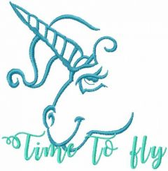 Time to fly embroidery design