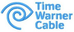 Time warner cable logo embroidery design
