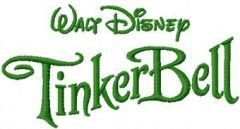 Tinkerbell Logo embroidery design