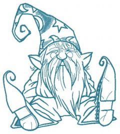 Tiny wizard 2 embroidery design