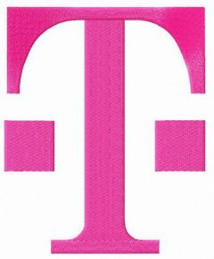 T-Mobile alternative logo embroidery design