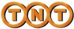 TNT logo embroidery design