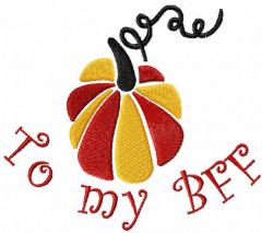 To my BFF embroidery design