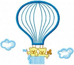 Together in a Balloon embroidery design