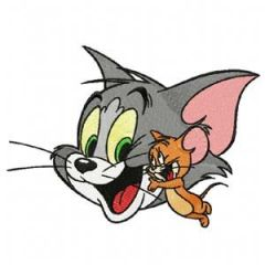 Tom and Jerry embroidery design