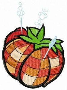 Tomato needle bed embroidery design