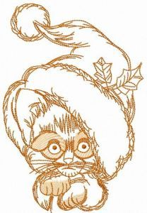 Too small to be Santa 4 embroidery design
