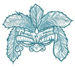 Totem mask embroidery design